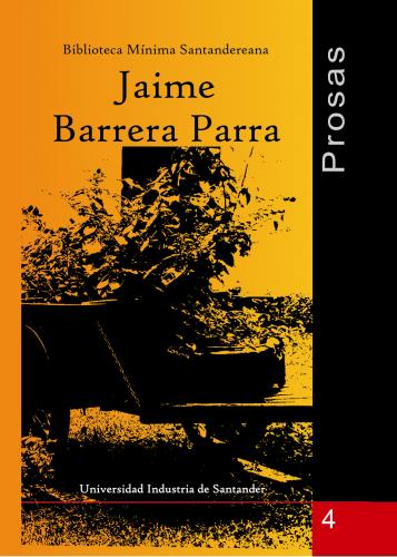 Cubierta para Prosas: Jaime Barrera Parra