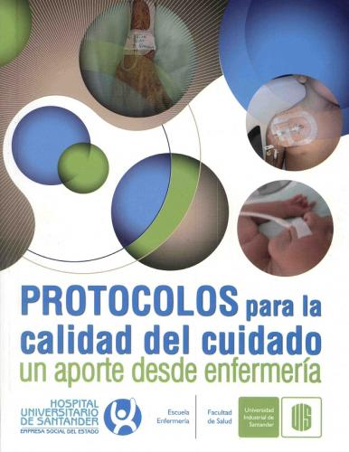 Cubierta para Protocolos para la calidad del cuidado. Un aporte desde la enfermería
